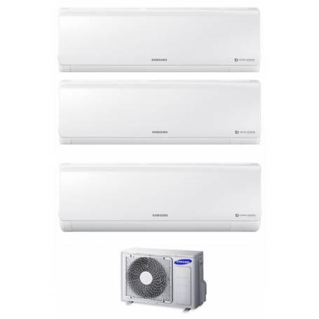 Condizionatore Climatizzatore Samsung trial split inverter 7+7+7 Serie New Style 7000+7000+7000 BTU con AJ052MCJ3EH/EU