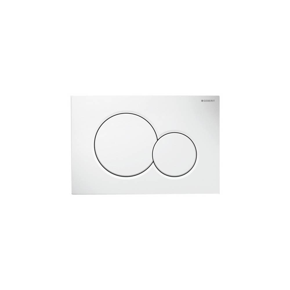 Placca di comando Geberit con doppio pulsante modello: SIGMA01 115.770.11.5 bianco - Climando.it