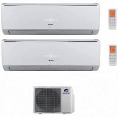 Condizionatore Climatizzatore Gree dual split inverter Serie Lomo 9000+9000 con GWHD14NK3KO