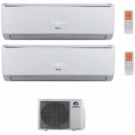 Condizionatore Climatizzatore Gree dual split inverter Serie Lomo 9000+9000 con GWHD18NK3KO