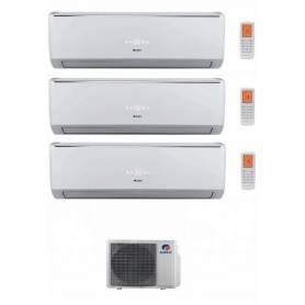Condizionatore Climatizzatore Gree trial split inverter Serie Lomo 9+9+9 con GWHD21NK3KO