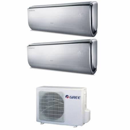 Condizionatore Climatizzatore Gree dual split inverter Smart Wi-Fi Serie U-Crown 9000+12000 con GWHD14NK3KO