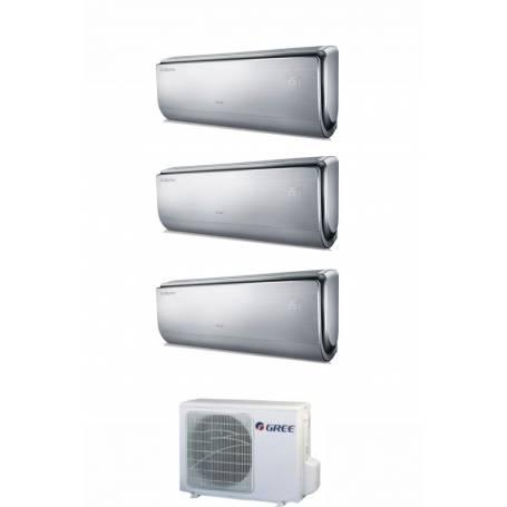 Condizionatore Climatizzatore Gree trial split inverter Serie U-Crown 9+9+12 con GWHD21NK3KO