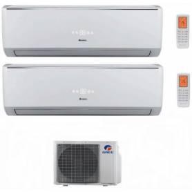 Condizionatore Climatizzatore Gree dual split inverter Serie Lomo 9000+18000 con GWHD21NK3KO