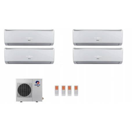 Condizionatore Climatizzatore Gree quadri split inverter Serie Lomo 9+9+9+12 con GWHD28NK3KO