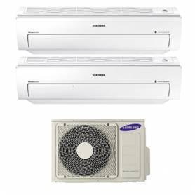 Condizionatore Climatizzatore Samsung dual split inverter 7+7 Serie AR5500M Smart WIFI 7000+7000 BTU con AJ040FCJ