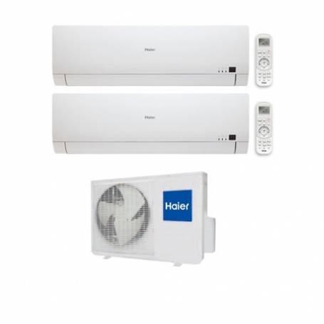 Condizionatore Climatizzatore dual split inverter Haier Brezza BS4 7000+12000 con 2U18FS2ERA