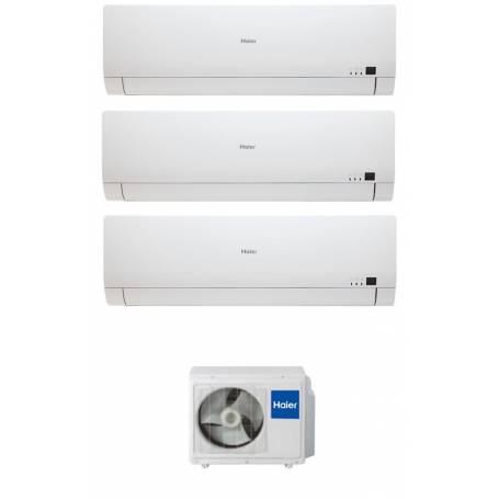 Condizionatore Climatizzatore trial split inverter Haier Brezza BS4 7000+9000+12000 con 3U19FS1ERA