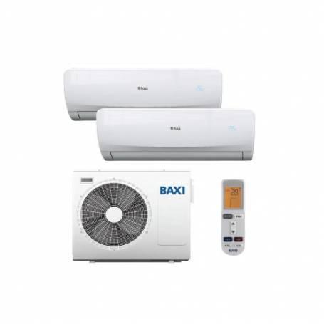 Condizionatore Climatizzatore Baxi dual split inverter Luna Clima 9000+12000 BTU con LST50-2M