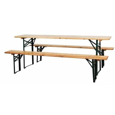 Set birreria in legno cm 220x70x76H