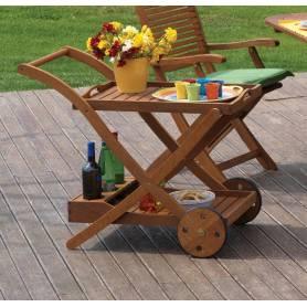 Carrello multifunzione con ruote in legno Balau cm 87x56x77h Mod. Tea TT-623