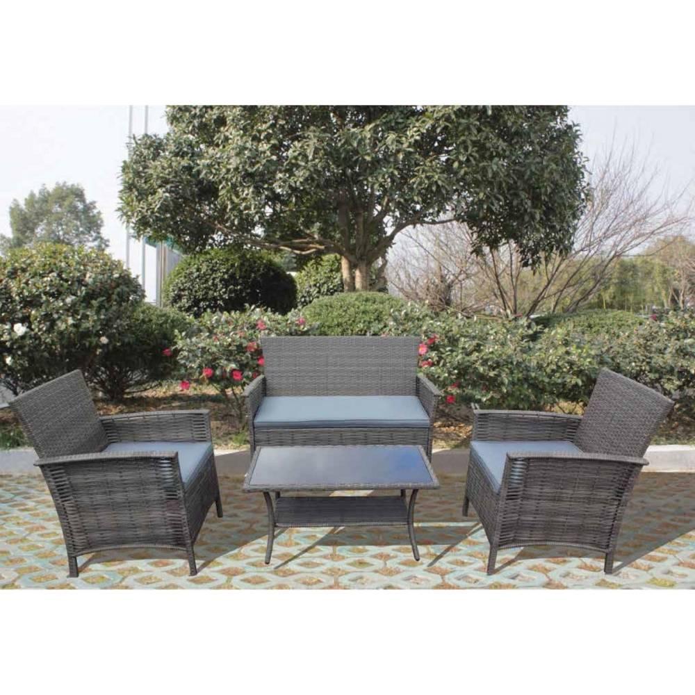 Salotto da esterno giardino completo divano poltrone for Poltrone giardino