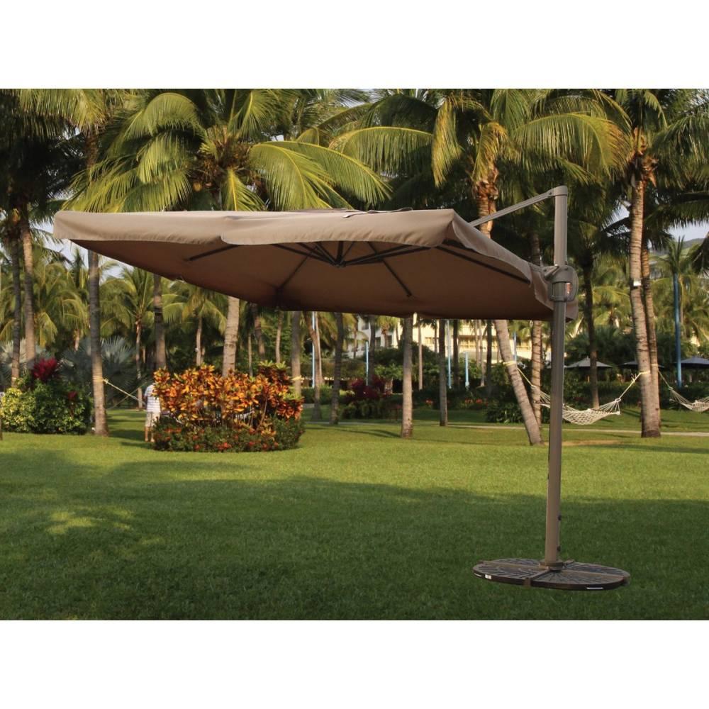 ombrellone decentrato in alluminio da esterno cm 300x300
