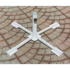 Base per ombrelloni in acciaio verniciato pieghevole