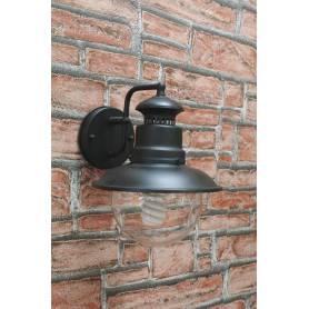 Lanterna da esterno in acciaio con braccio cm 22x26x27h Mod. Marina colore nero