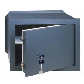 Cassaforte meccanica a muro incasso cm 36x20x24h spessore sportello 10 mm con chiave