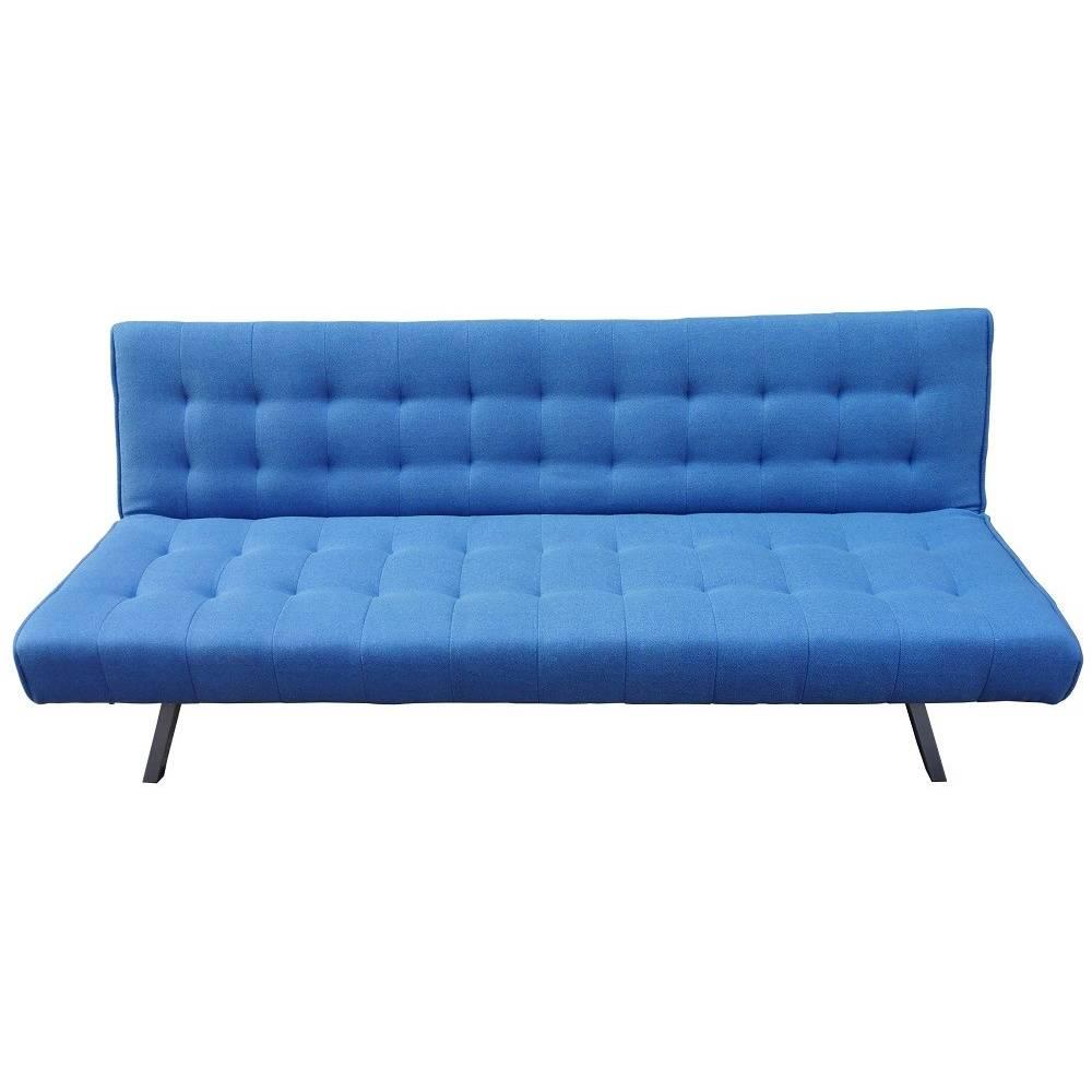 Divano letto manuale cm 180x80x74h moderno colore blu mod - Divano letto blu ...