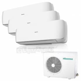 Condizionatore Climatizzatore Hisense trial split inverter Serie Mini Apple Pie 9+9+12 con 3AMW81U4SAD1