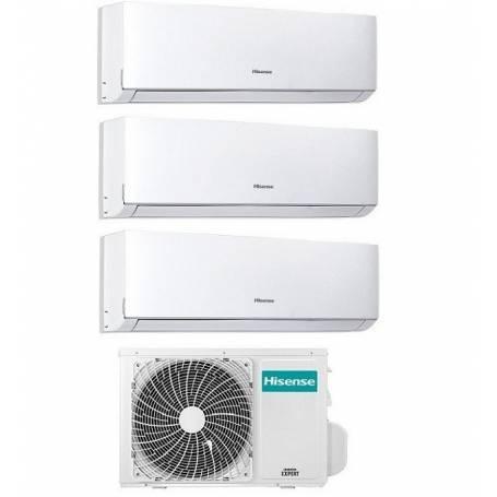 Condizionatore Climatizzatore Hisense trial split inverter Comfort 7000+7000+12000 btu 7+7+12 con 3AMW-58U4SZD1