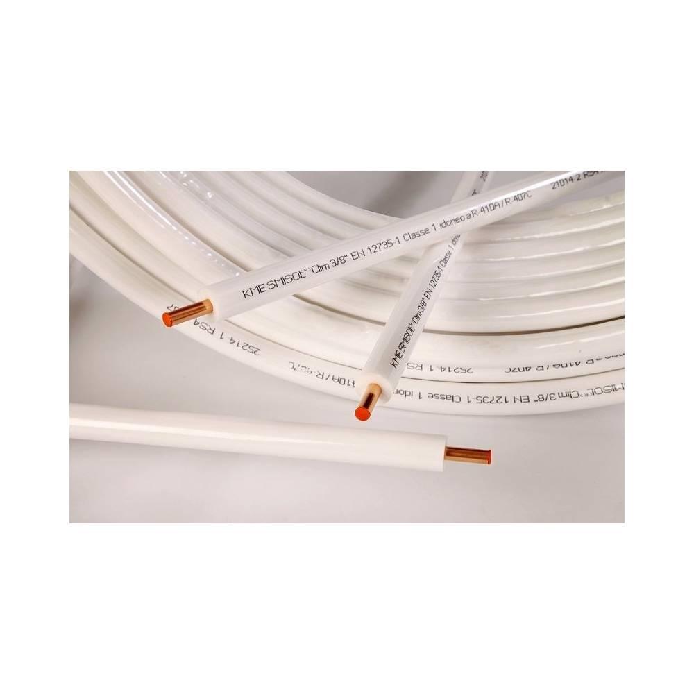 Tubo rame kme smisol per climatizzazione 50 mt da 3 8 for Tubo di rame vs pvc