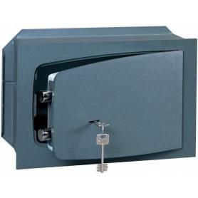 Cassaforte meccanica a muro cm 31x19x19h spessore sportello 8 mm con chiave