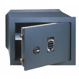 Cassaforte elettronica a muro cm 42x25x30h spessore sportello 10 mm