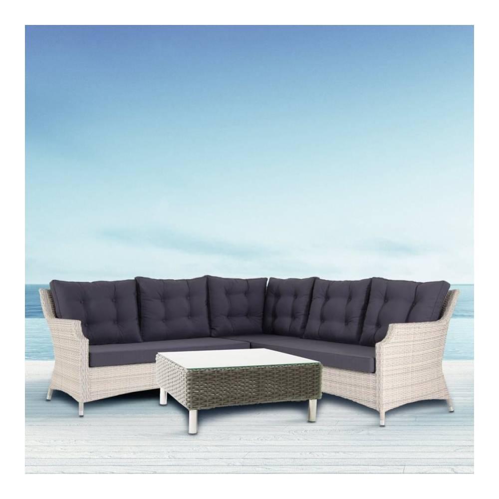 Salotto da esterno completo seduta ad angolo 2 sedute for Sedute da esterno