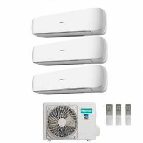 Condizionatore Climatizzatore Hisense trial split inverter Serie Mini Apple Pie 9+9+9 con 3AMW62U4RFA