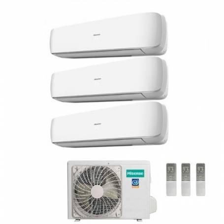 Condizionatore Climatizzatore Hisense trial split inverter Serie Mini Apple Pie 9+9+12 con 3AMW-58U4SZD1