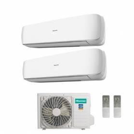 Condizionatore Climatizzatore Hisense dual split inverter Serie Mini Apple Pie 9+12 con 2AMW58U4SZD1