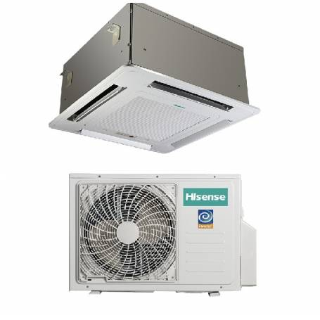 Condizionatore Climatizzatore Hisense a cassetta inverter AUC-18UR4SAA1 18000 BTU con pannello