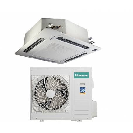 Condizionatore Climatizzatore Hisense a cassetta inverter AUC-24UR4SEA1 24000 BTU con pannello