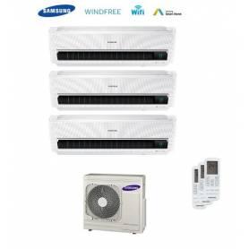 CLIMATIZZATORE CONDIZIONATORE SAMSUNG INVERTER 9+9+12 TRIAL SPLIT AR9500M WINDFREE Wi-Fi 9000+9000+12000 BTU CON AJ068FCJ - 2017