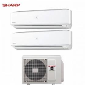 Condizionatore Climatizzatore Sharp dual split Hi Wall inverter Serie PHR 7000+12000 con AE-X2M14LR