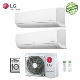 Condizionatore LG Dual Split Libero Serie EP Inverter 9000+12000 Con MU2M17 UL4 - New 2017