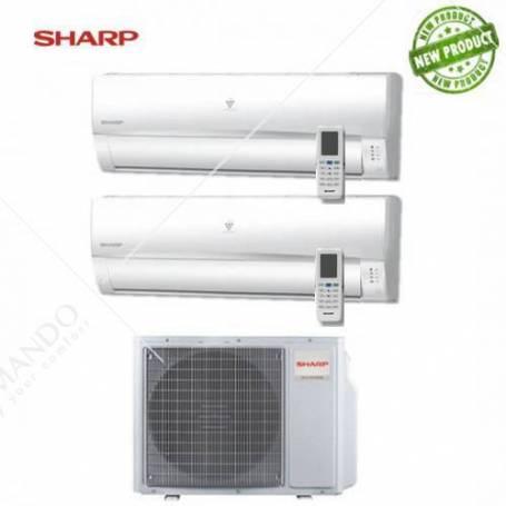 Condizionatore Sharp Dual Split Inverter Serie UMR 9000+9000 Con AE-X2M14TR - Modello 2017
