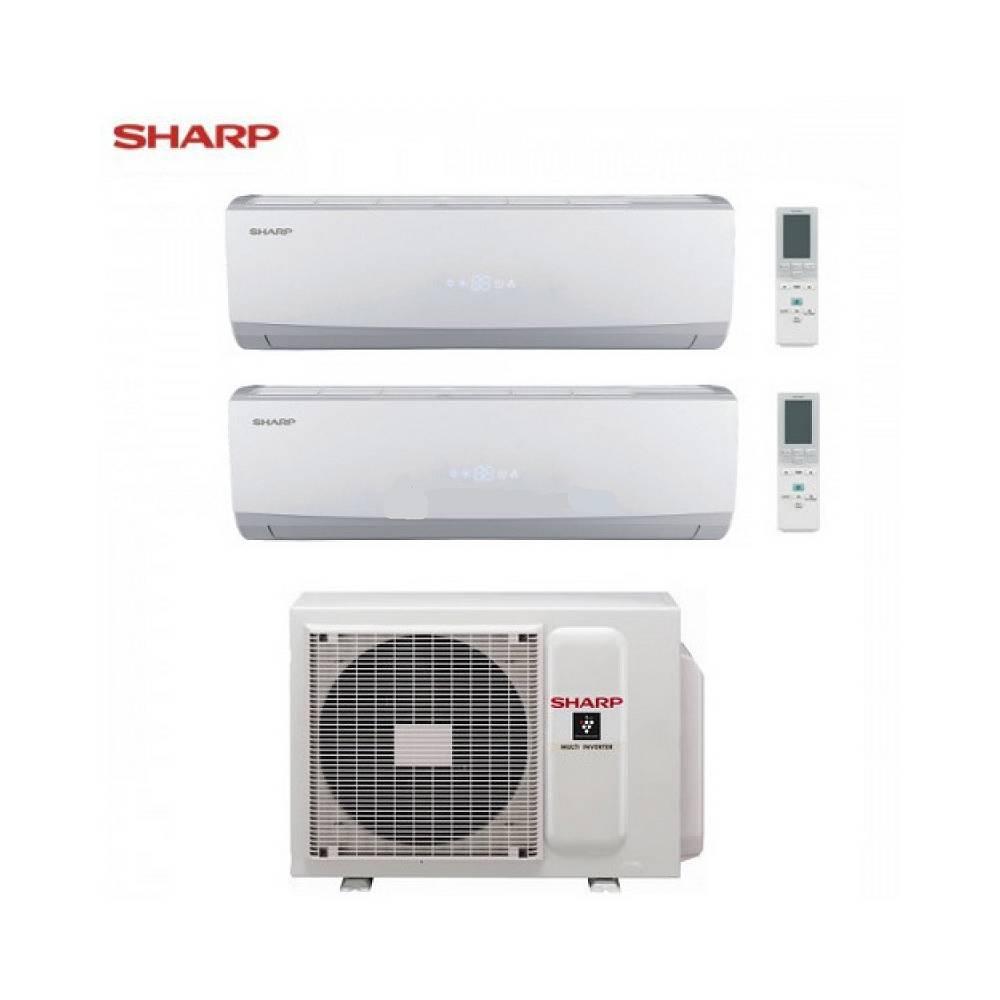 Condizionatore sharp dual split inverter serie smile curve for Split condizionatore