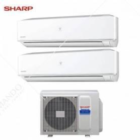 Condizionatore Climatizzatore Sharp Dual Split Inverter Serie PHR 12000+12000 Con AE-X2M18KR