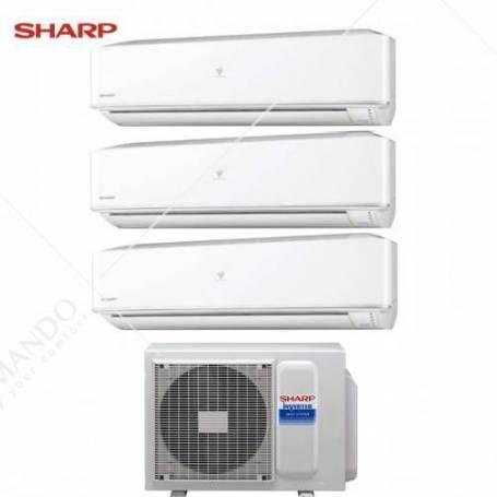 Condizionatore Sharp Trial Split Inverter Serie PHR 7+7+12 Con AE-X3M18JR