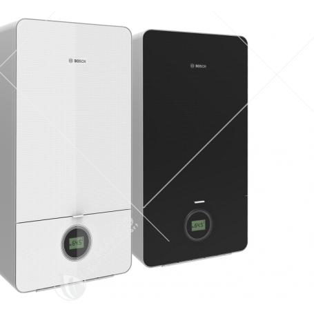 Caldaia Junkers Bosch Condens 7000I GC7000IW 24 KW A Condensasione Completa D Kit Scarico Fumi Bianca o Nera - NEW ERP