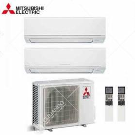 Condizionatore Climatizzatore Mitsubishi Electric Dual Split Inverter Serie MSZ-HJ 9+9 CON MXZ-2HJ40VA2