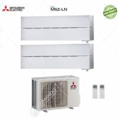 Condizionatore Climatizzatore Mitsubishi Electric Dual Split Inverter Serie MSZ-LN 9000+9000 con MXZ-2D42VA2 9+9 - NEW