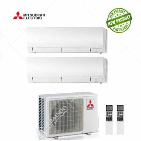 Condizionatore Climatizzatore Mitsubishi Electric Dual Split Inverter Serie MSZ-HJ 12+12 CON MXZ-3HJ50VA