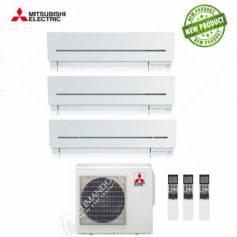 Condizionatore Climatizzatore Mitsubishi Electric Trial Split Inverter Serie SF 9+9+12 CON MXZ-3E54VA NEW