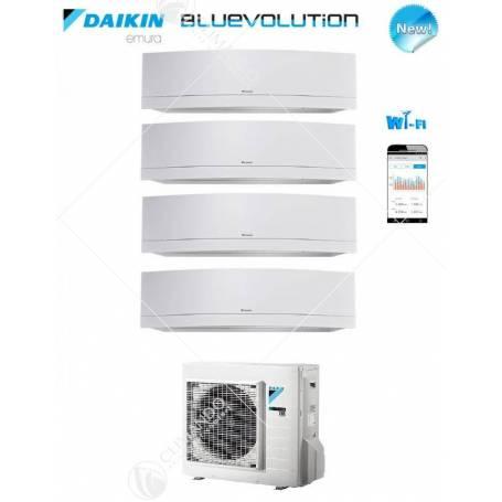 Condizionatore Daikin Quadri Split Inverter Serie Emura White WI-FI R-32 Bluevolution 9+9+9+18 Con 4MXM80M