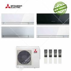Condizionatore Climatizzatore Mitsubishi Electric Quadri Split Inverter Kirigamine Zen 9+9+9+12 CON MXZ-4E72VA
