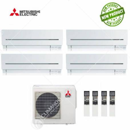 Condizionatore Climatizzatore Mitsubishi Electric Quadri Split Inverter Serie SF 9+9+9+12 CON MXZ-4E72VA NEW
