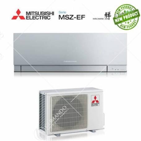 Condizionatore Climatizzatore Mitsubishi Electric Inverter Kirigamine Zen Silver 9000 BTU MSZ-EF25VE2/3S A+++