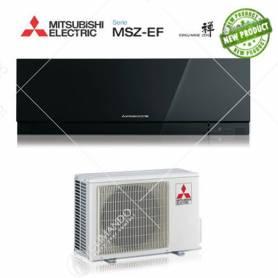 Condizionatore Mitsubishi Electric inverter Kirigamine Zen Black 9000 BTU MSZ-EF25VE2B + staffa omaggio