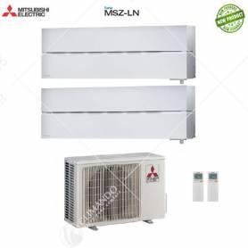 Condizionatore Climatizzatore Mitsubishi Electric Dual Split Inverter Serie MSZ-LN 9000+12000 CON MXZ-2D42VA2 9+12 - NEW